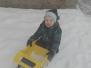 Sněhové radovánky na školní zahradě a na Říhovce